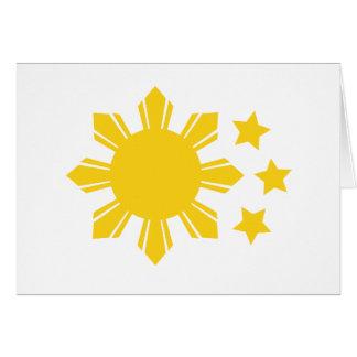 Philippinische Flagge - stolz, Pinoy zu sein! Karte