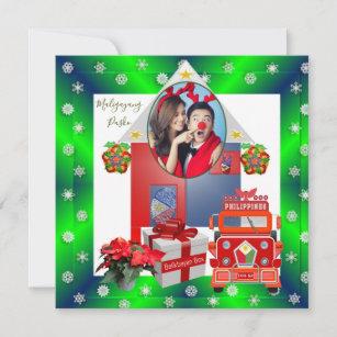 Frohe Weihnachten Philippinisch.Pasko Karten Zazzle At