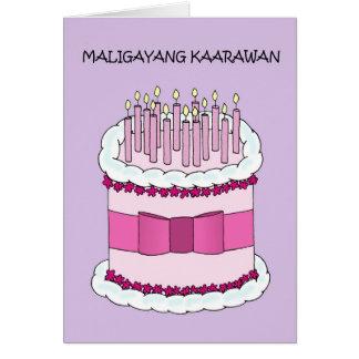 Philippinisches alles Gute zum Geburtstag Karte
