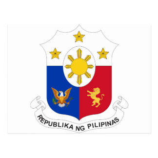 Philippinisches Siegel Postkarte