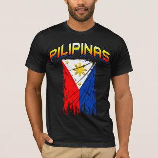 philippinisches T-Stück der Flagge (pilipinas) T-Shirt
