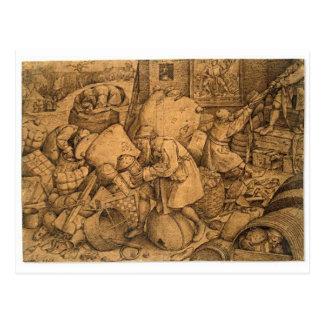 Philister durch Pieter Bruegel das Älteste Postkarte