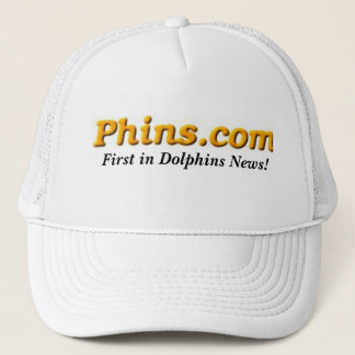 Phins.com, zuerst in den Delphin-Nachrichten! Truckerkappe