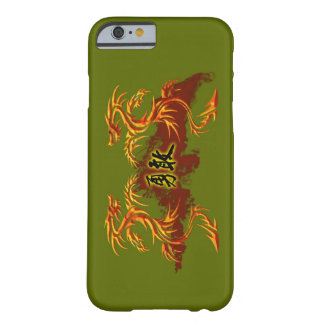 phonecase, 2 Drachen, Feuer, chinesisches Symbol Barely There iPhone 6 Hülle
