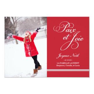 Photokarte des Urlaubs | Frieden und der roten 12,7 X 17,8 Cm Einladungskarte