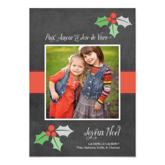 PhotoWeihnachtskarten | Frieden Liebe und Freude 12,7 X 17,8 Cm Einladungskarte