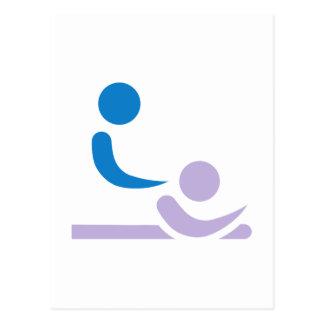 Physiotherapeut Postkarte