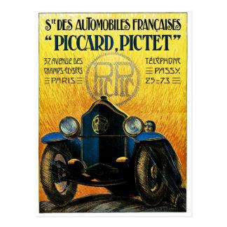Picard Pictet Vintage Auto-Anzeige Postkarte