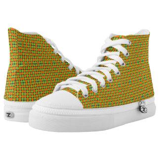 Pickelige quadratische Kreis-Farbe Hoch-geschnittene Sneaker