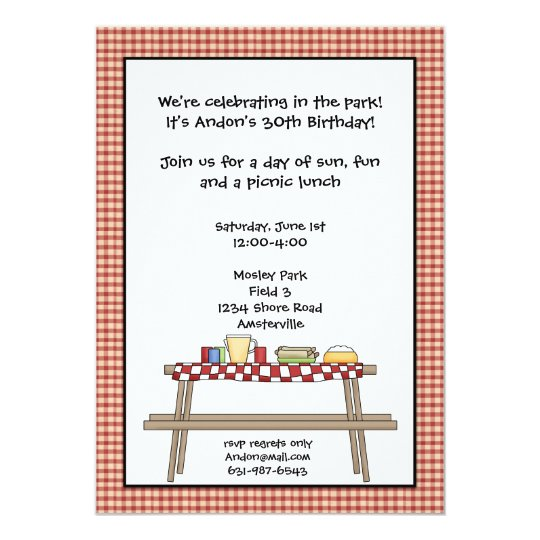 Picknick-Einladung Karte | Zazzle.at