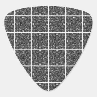 PiecedLayered deckt 6x6 BandW mit Ziegeln Gitarren-Pick