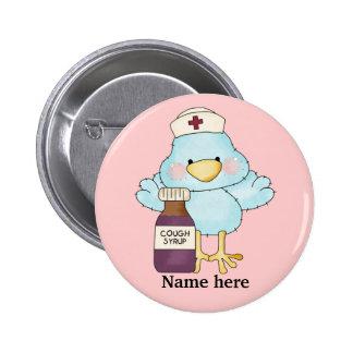 Piepmatz-Krankenschwesterknopf Runder Button 5,1 Cm