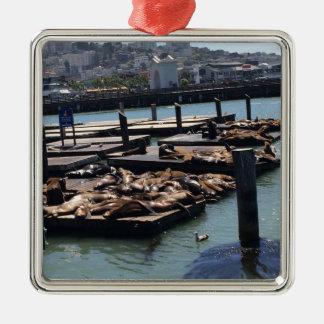 Pier 39 San Francisco Kalifornien Silbernes Ornament