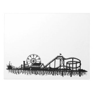 Pier-Strand-Riesenrad Kaliforniens Santa Monica CA Notizblock