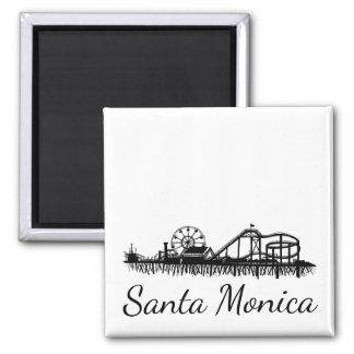 Pier-Strand-Riesenrad Kaliforniens Santa Monica CA Quadratischer Magnet