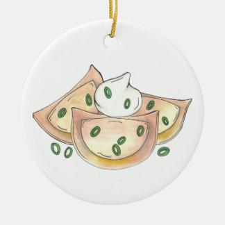 Pierogies polnischer keramik ornament