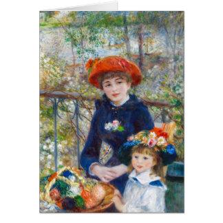 Pierre-Auguste Renoir zwei Schwestern auf Terrasse Karte
