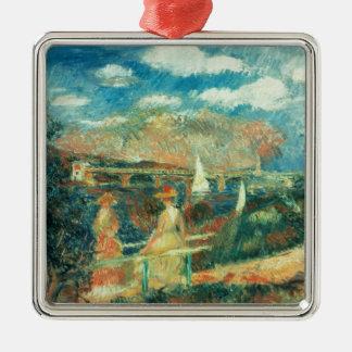 Pierre ein Renoir | Banken der Seines in Silbernes Ornament