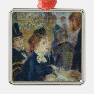 Pierre ein Renoir | beim Caf� Silbernes Ornament