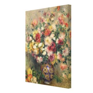 Pierre ein Renoir | Dahlien Leinwanddruck