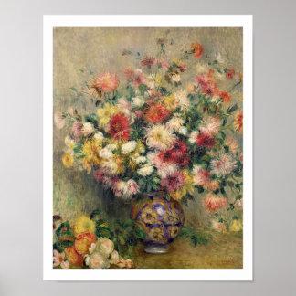 Pierre ein Renoir | Dahlien Poster