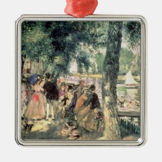 Pierre ein Renoir |, das auf der Seine badet Silbernes Ornament