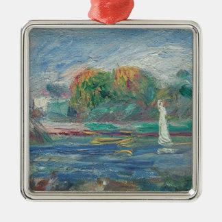 Pierre ein Renoir | der blaue Fluss Silbernes Ornament