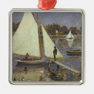 Pierre ein Renoir | die Seine in Argenteuil Silbernes Ornament