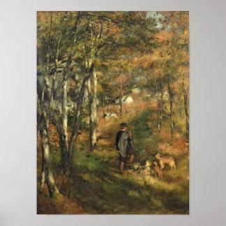 Pierre ein Renoir | Jules Le Coeur im Wald Poster