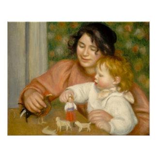 Pierre ein Renoir | Kind mit Spielwaren Perfektes Poster