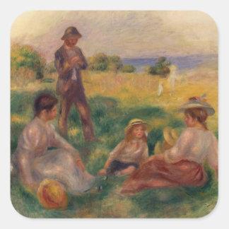 Pierre ein Renoir | Party im Land bei Berneval Quadratischer Aufkleber