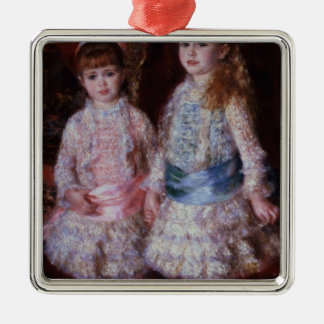 Pierre ein Renoir | rosa und Blau Silbernes Ornament