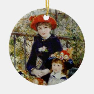 Pierre ein Renoir | zwei Schwestern oder auf der Keramik Ornament