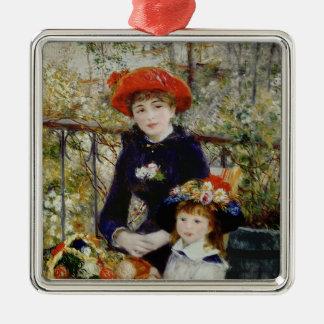 Pierre ein Renoir | zwei Schwestern oder auf der Silbernes Ornament