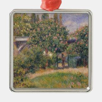 Pierre eine Renoir | Eisenbahnbrücke bei Chatou Silbernes Ornament
