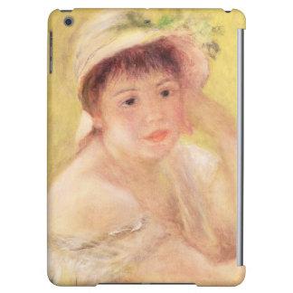 Pierre eine Renoir   Frau in einem Strohhut