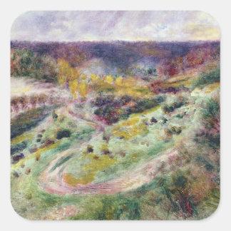 Pierre eine Renoir | Landschaft bei Wargemont Quadratischer Aufkleber