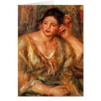 Pierre Renoir- Madeleine die auf ihrem Ellbogen Karten