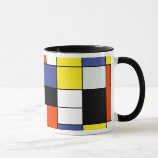 Piet Mondrian Zusammensetzung A - abstrakte Tasse