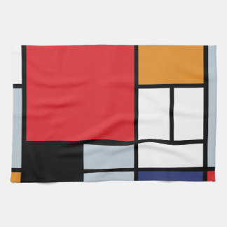 Piet Mondrian - Zusammensetzung mit großem rotem Handtücher