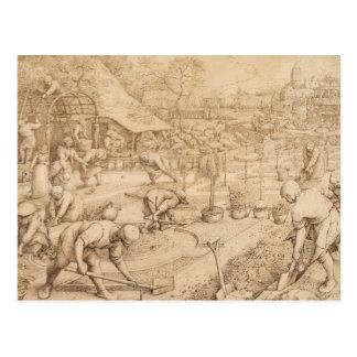 Pieter Bruegel das Älteste - Frühling Postkarte