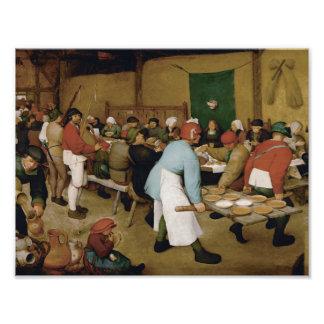 Pieter Bruegel das Älteste - ländliche Hochzeit Fotodruck