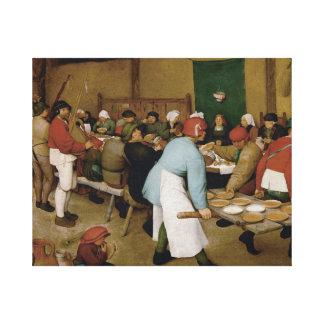 Pieter Bruegel das Älteste - ländliche Hochzeit Gespannter Galerie Druck
