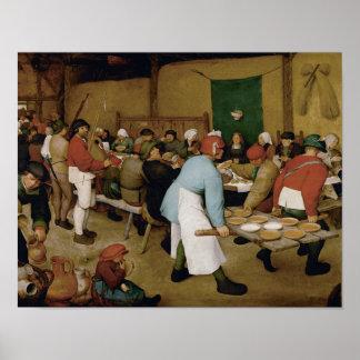 Pieter Bruegel das Älteste - ländliche Hochzeit Poster