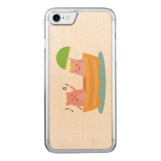 Piggy Liebe-Schiff Carved iPhone 8/7 Hülle