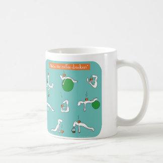 pilates für Kaffeetrinker Tasse