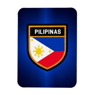 Pilipinas Flagge Eckiger Magnet