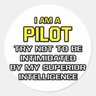 Pilot… überlegene Intelligenz Runde Sticker