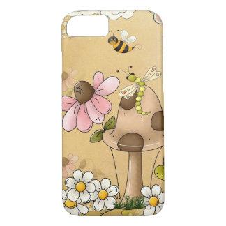 Pilz-neutrale Brown-Schildkröte-Tierkinderkunst iPhone 8/7 Hülle