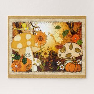 Pilz-wunderliche Herbst-Fantasie Puzzle